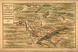 Map - 1754 – Captain Snow's Sketch of the Country by Himself, and the Best Accounts He Could receive from the Indian Traders