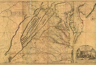 Map - 1755 – A Map of the Most Inhabited Part of Virginia Containing the Whole Province of Maryland