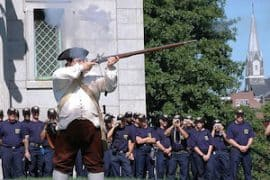 Living History Demonstration at Bunker Hill
