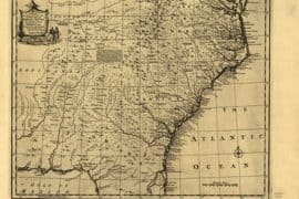 Map - 1752 – A New & Accurate Map of the Provinces of North & South Carolina, & Georgia, etc.