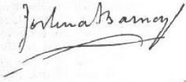 Joshua Barney Signature