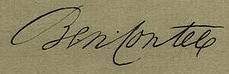 Benjamin Contee Signature
