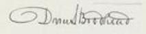 Daniel Brodhead IV Signature